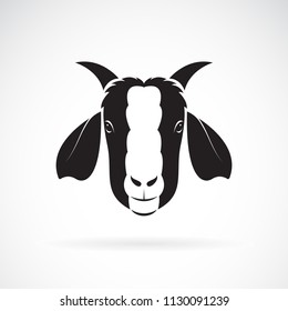 Vector of goat head design on white background. Wild Animals. Easy editable layered vector illustration.