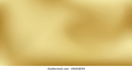 Vector gold blurred gradient style background. Abstract smooth colorful illustration, social media wallpaper.