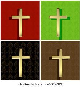 vector gold cross background.