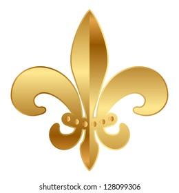 Vector gold  Fleur-de-lis ornament