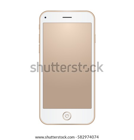 Vector Gold Frame Mobile Phone Empty Stock Vector (Royalty Free ...