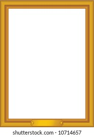 vector gold frame with nameplate - edit or scale to any size!