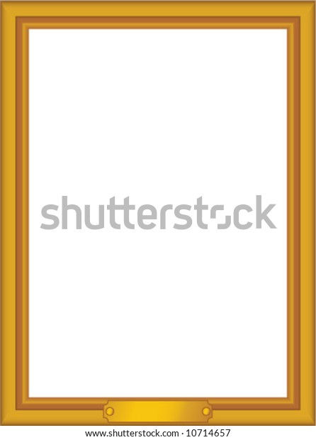Vector Gold Frame Nameplate Edit Scale Stock Vector (Royalty