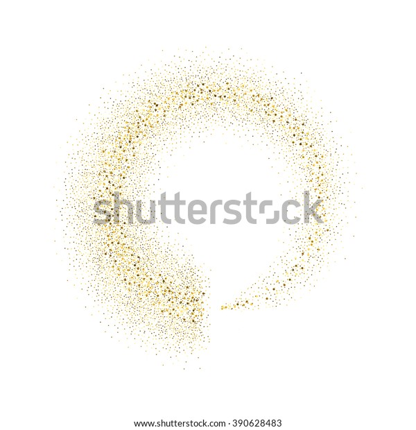 Vector Gold Glitter Circle Abstract Background Stock