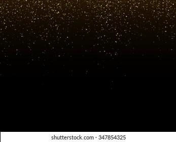 Vector gold glitter dust texture. Twinkling glitter.