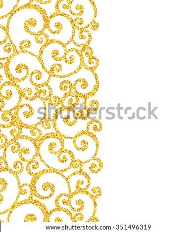 vector gold glitter swirl pattern golden stock vector royalty free