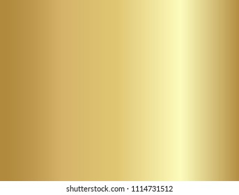 Vector of gold gradient. Gold gradient background texture metallic vector illustration for luxury frame, ribbon, banner, web, coin and label. Elegant light and shine vector template