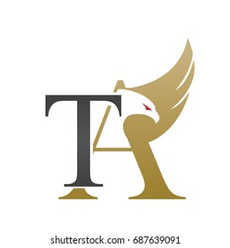 Vector Gold Letter T A Eagle Consulting Logo