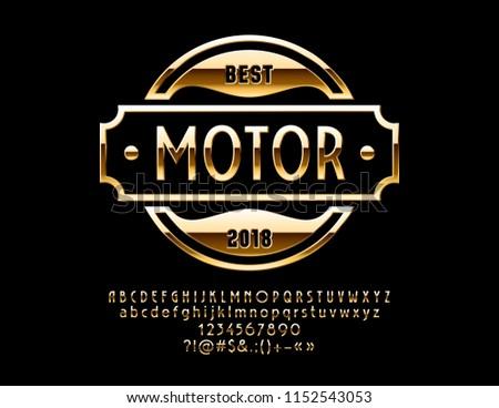 Vector Gold Logo Design Luxury Car Stock Vector Royalty Free