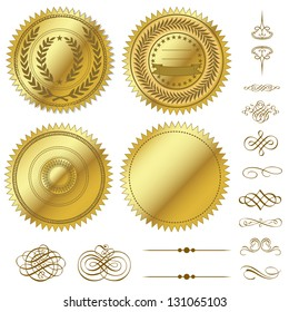 Vector Gold Seal Set
