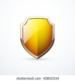 Vector gold shield