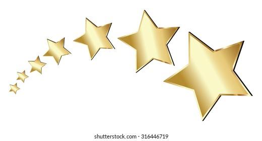 Vector Gold Stars