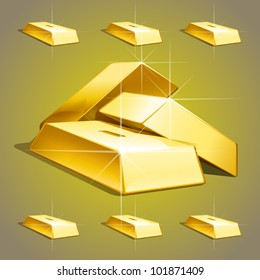vector golden bars