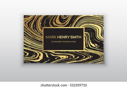 Vector golden business card