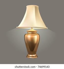 vector golden desk lamp