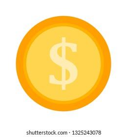 Vector Golden Dollor Coin Icon