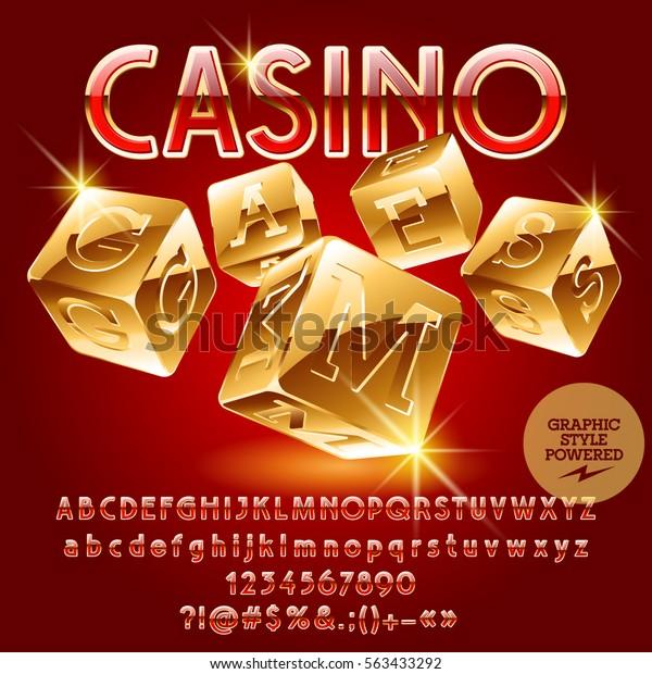 Vector Golden Emblem Casino Games Set Stock Vector Royalty Free 563433292