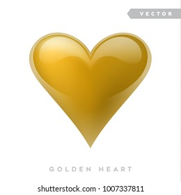 Vector golden heart
