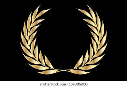 Vector Golden Laurel Wreath