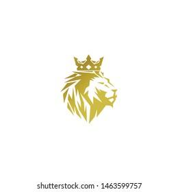 vector of golden lion head or golden lion