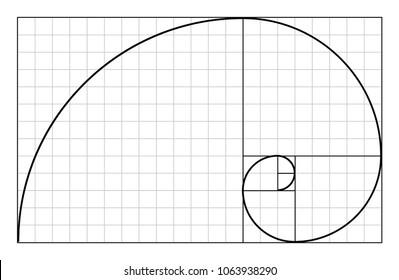 Vector golden proportion symbol