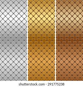 Vector golden, silver, bronze mosaic background