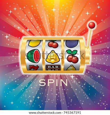 Vector Golden Slot Machine Gambling Background Stock Vector Royalty