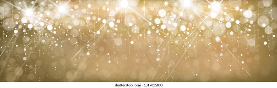 Vector golden, sparkle,  lights  banner.