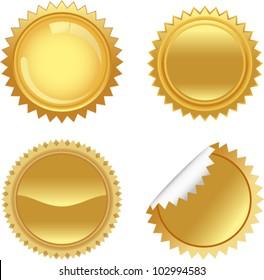 vector golden starbursts set 1