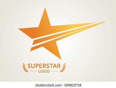Vector Golden Superstar Logotype