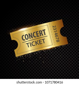 Vector golden tickets and coupons templates