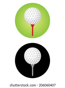 Vector Golf Ball Icon Set