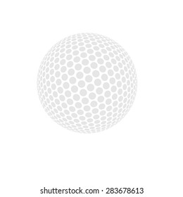 Vector golf ball isolated on white. Golf ball. Vector illustration a traditional white golf ball
