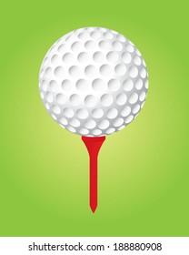 Vector Golf Ball and Tee Set