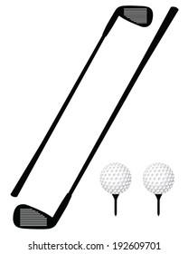 Vector golf club, ball and tee set