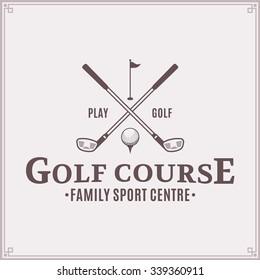 Vector golf club logo