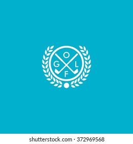 Vector of golf club logo templates. Hipster sport labels with sample text. Elegant vintage icons for organizations and golf clubs. Flat Style Design.