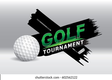 Vector of golf competition tournament.