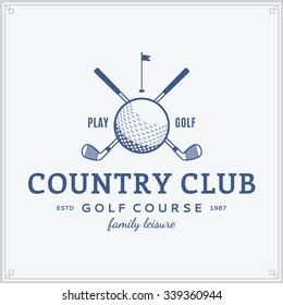 Vector golf country club logo