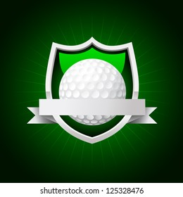 vector golf emblem. No transparency