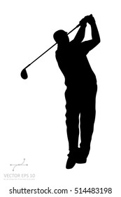 The vector of golf player isolate on white background