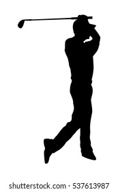 The vector of golf player isolated
