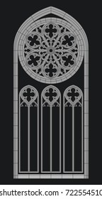 Vector Gothic Cathedral Window