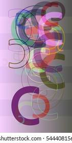 vector and gradation, trendy alphabet between C