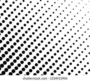 Vector gradient halftone dots background