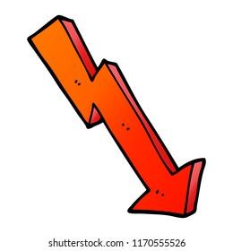 vector gradient illustration cartoon business loss arrow