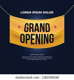 Vector of Grand Opening banner for new store, club. Eps 10 vector illustration.