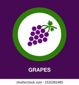 vector grapes - nature illustration, fruit symbol - wine icon