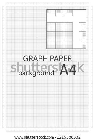 vector graph paper background built millimeter stock vector royalty