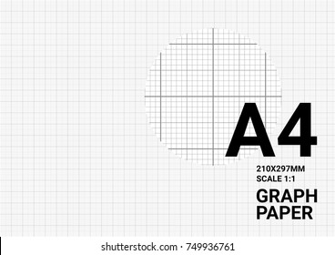 Vector graph paper blueprint background with plotting millimeter ruler line quide grid texture for engineering mechanical drawing.